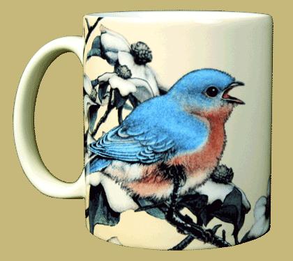 Bluebird Ceramic Mug - Front