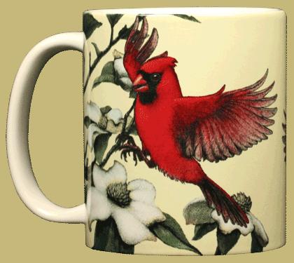 Cardinal & Dogwoods Ceramic Mug