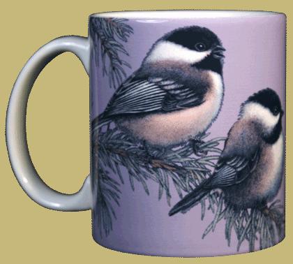 Chickadees Ceramic Mug - Front