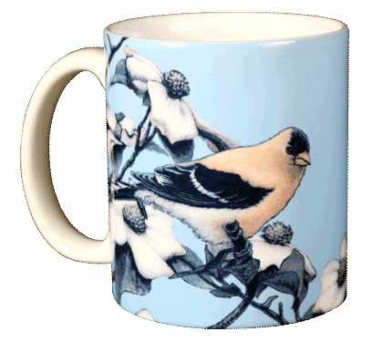 American Gold Finch Ceramic Mug - Front