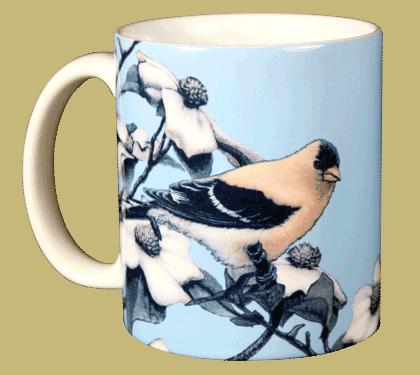 American Gold Finch Ceramic Mug - Front