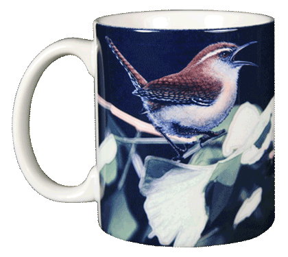 Carolina Wren Ceramic Mug - Front