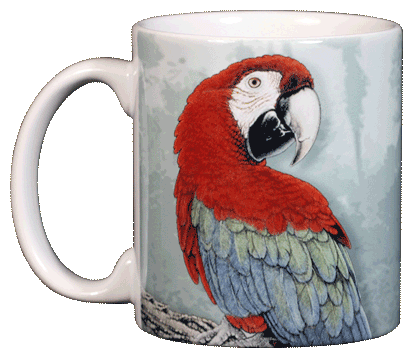 Green Wing Macaw Ceramic Mug