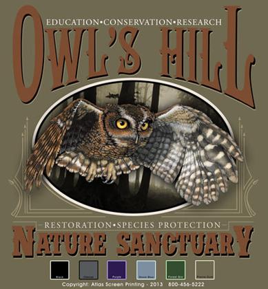 Screech Owl Oval Template - Prairie Dust