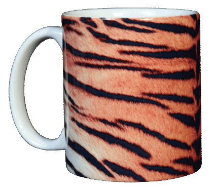 Tiger Stripes Ceramic Mug - Front