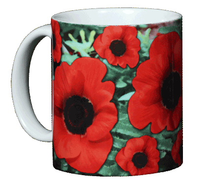 Poppies Ceramic Mug - Front
