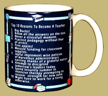 Top 10 Teacher Ceramic Mug - Back