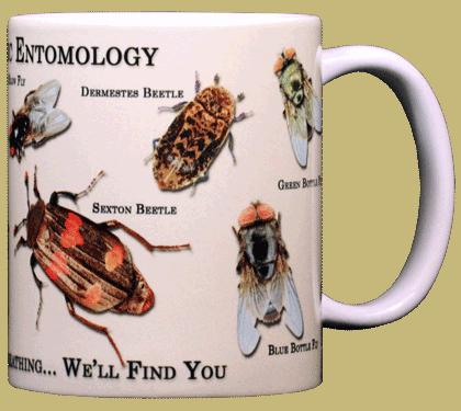 Forensic Entomology Ceramic Mug - Back