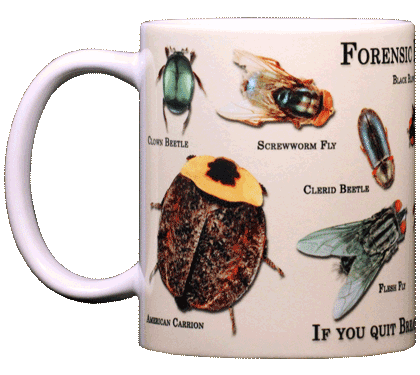 Forensic Entomology Ceramic Mug - Front
