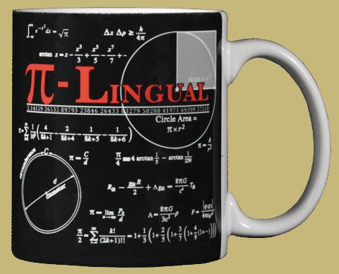 Pi-Lingual Ceramic Mug - Back