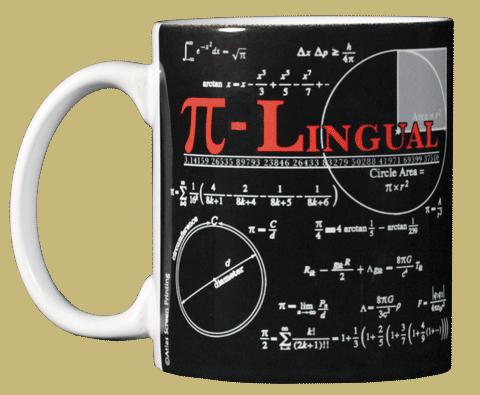 Pi-Lingual Ceramic Mug - Front