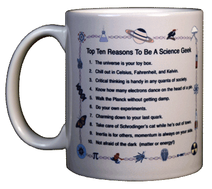 Top Ten Geek Ceramic Mug - Front