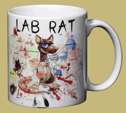 Lab Rat Ceramic Mug - Back
