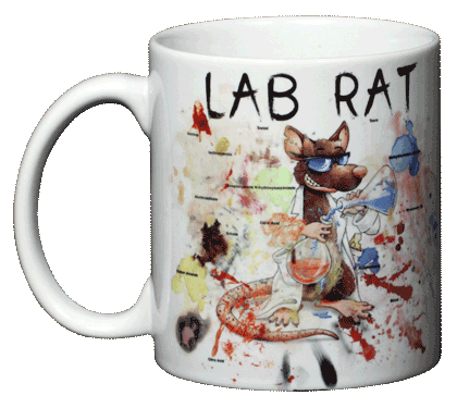 Lab Rat Ceramic Mug - Front