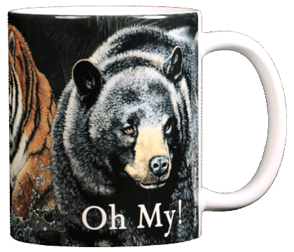 Lions & Tigers & Bears Ceramic Mug - Back