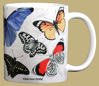 Exotic Butterflies Ceramic Mug - Back
