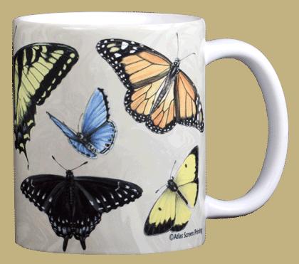 North American Butterflies Ceramic Mug - Back