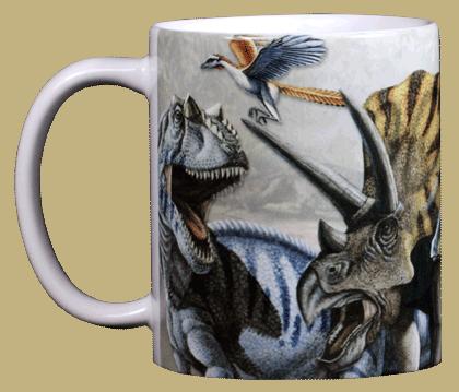 Dinosaur Trio Ceramic Mug