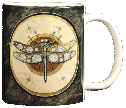 Steampunk Dragonfly Ceramic Mug - Back