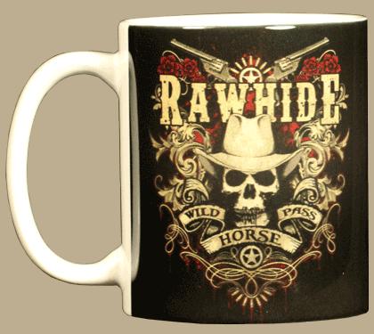 Cowboy Skull Ceramic Mug - Front