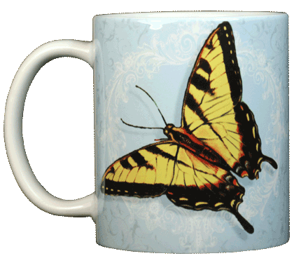 Tiger Swallowtail Ceramic Mug - Front