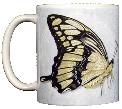 Giant Swallowtail Ceramic Mug - Front