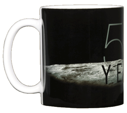 Apollo 11 Earthrise 50th Ceramic Mug - Front