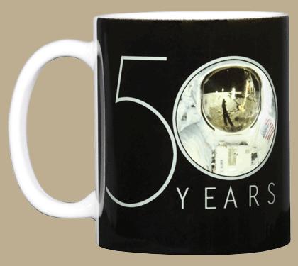 Apollo 11 Astronaut 50th Ceramic Mug - Front