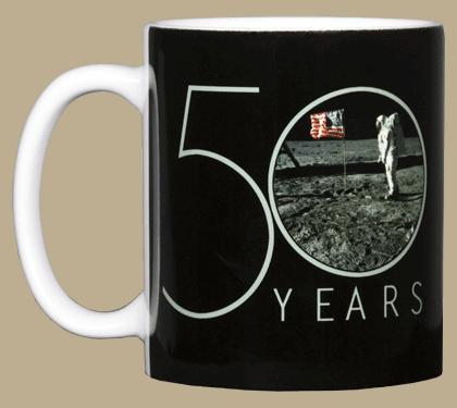 Apollo 11 Landing 50th Ceramic Mug - Front