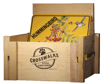 Crosswalks Table Top Crate