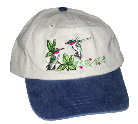 Hummingbirds Embroidered Cap