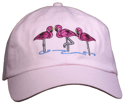 Flamingos Embroidered Cap