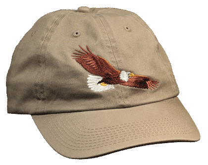 Eagle Flying Embroidered Cap