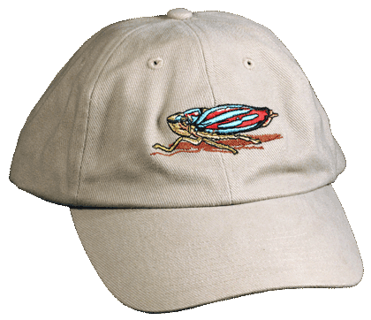 Leaf Hopper Embroidered Cap - Front