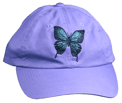 Blue Ulysess Embroidered Cap - Front