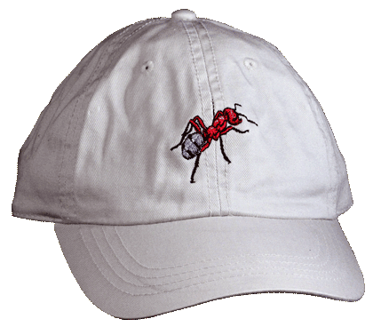 Red Ant Embroidered Cap - Front