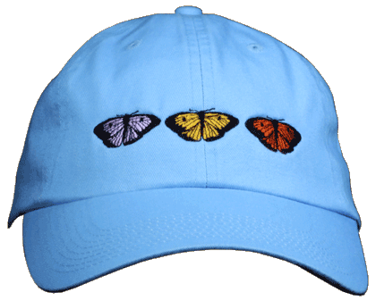 Butterfly Trio Embroidered Cap