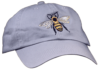 Honey Bee Embroidered Cap