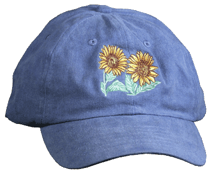 Sunflowers Embroidered Cap - Front