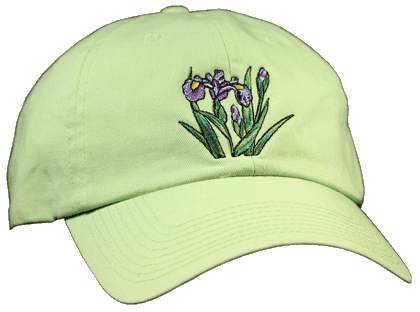 Irises Embroidered Cap