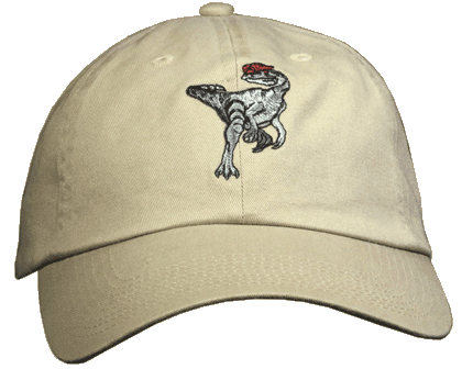 Dilophosaurus Embroidered Cap