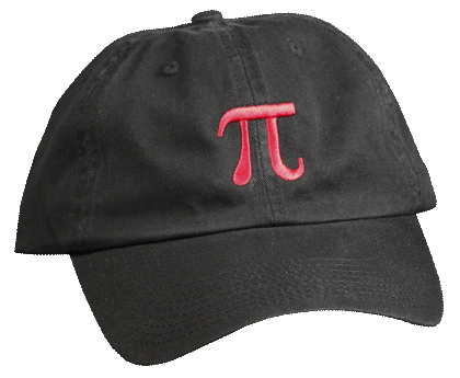 Pi Embroidered Cap - Front
