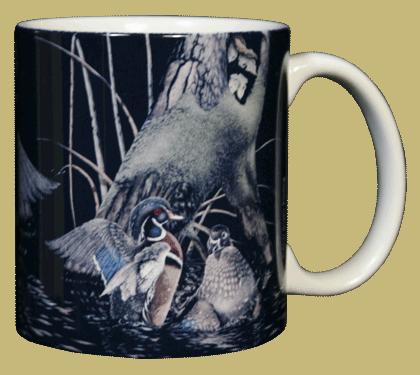 Wood Ducks Ceramic Mug - Back