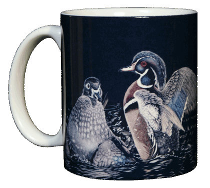 Wood Ducks Ceramic Mug - Front