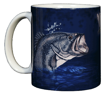 Large Mouth Bass Ceramic Mug - Front