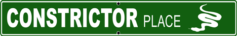 Constrictor Place Alum Sign - Front