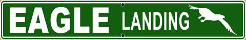 Eagle Landing Street Sign - Front