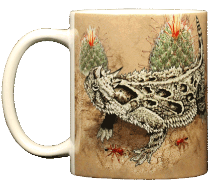 Horned Lizard Ceramic Mug - Front