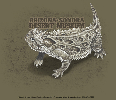 Horned Lizard Custom Template - Front