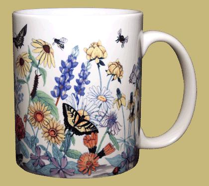 Roadside Wildflowers Ceramic Mug